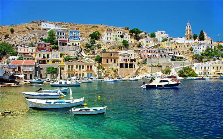Greece Coast View All Mac wallpaper