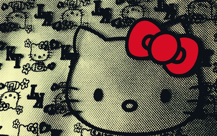 Hello kitty design All Mac wallpaper