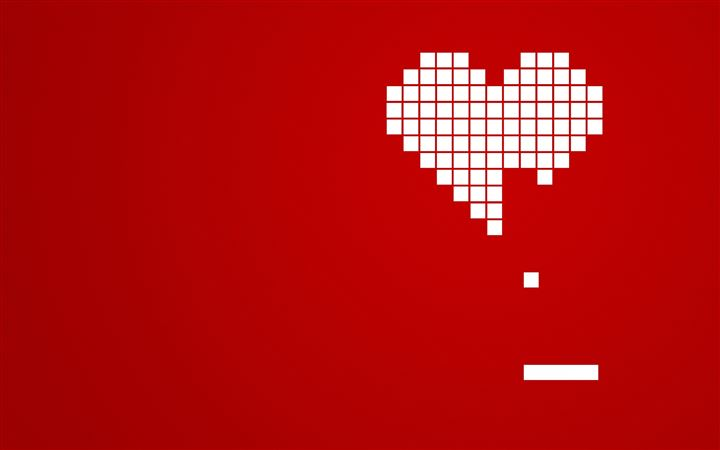 Incomplete heart All Mac wallpaper