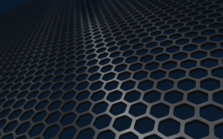 Iron honeycomb mesh All Mac wallpaper