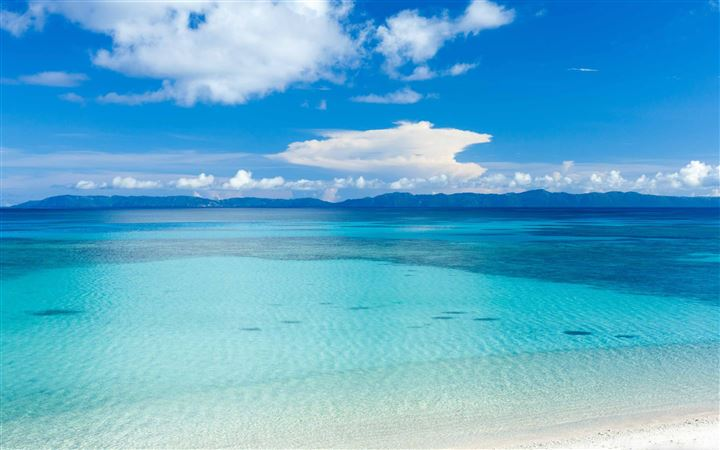 Island Beach Panoramic View All Mac wallpaper