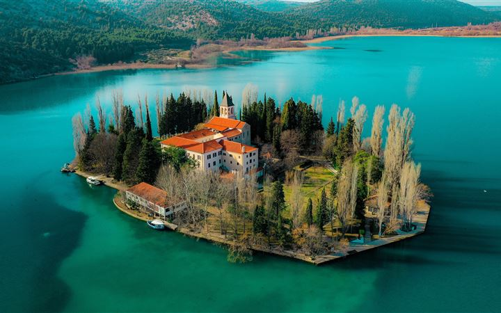 Island Visovac, Croatia All Mac wallpaper