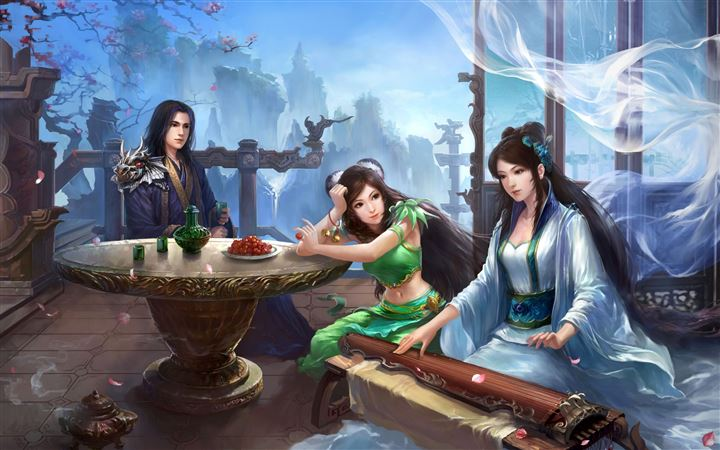 Jade Dynasty Artwork All Mac wallpaper