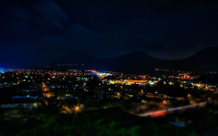 Kaneohe At Night Hdr Tilt Shift All Mac wallpaper