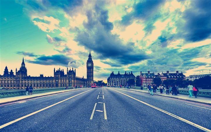 London Big Ben Road United Kingdom All Mac wallpaper