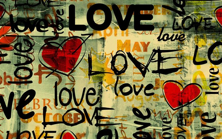 Love Written In Graffiti All Mac wallpaper