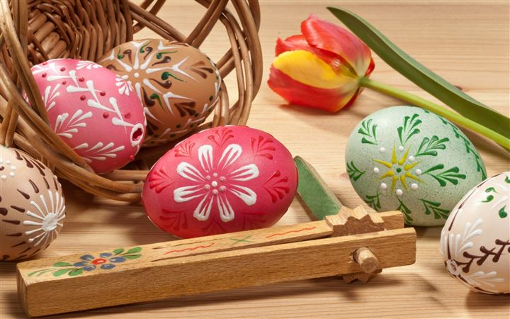 Lovely Painted Easter Eggs All Mac wallpaper