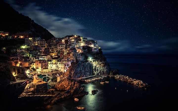 Manarola Night All Mac wallpaper