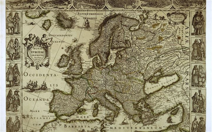 Map of Europe MacBook Air wallpaper
