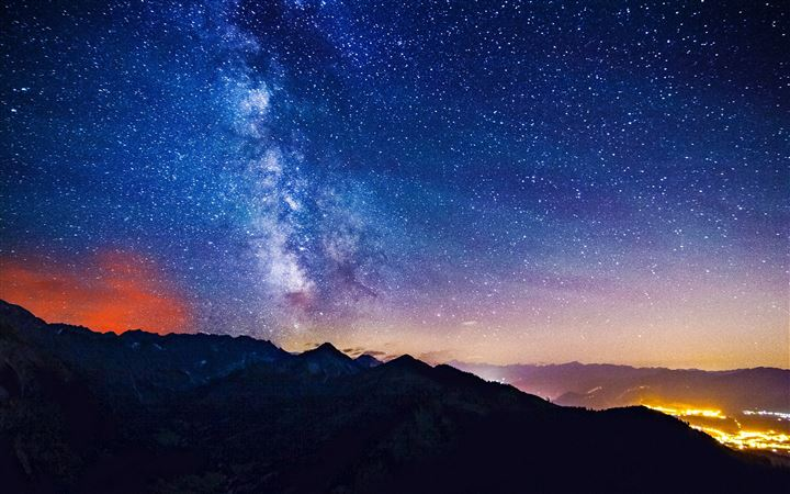 Milky Way Mountains All Mac wallpaper