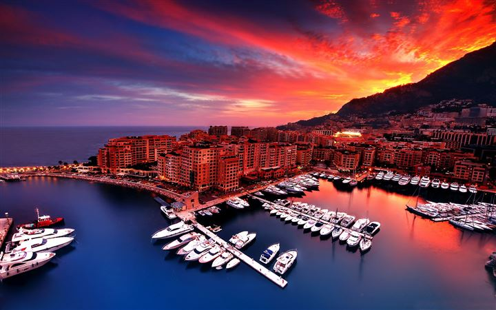 Monaco sunset All Mac wallpaper