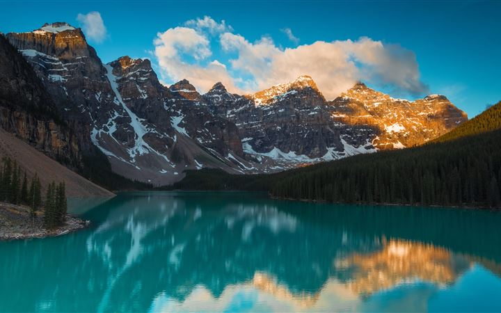 Moraine Lake has been som... All Mac wallpaper