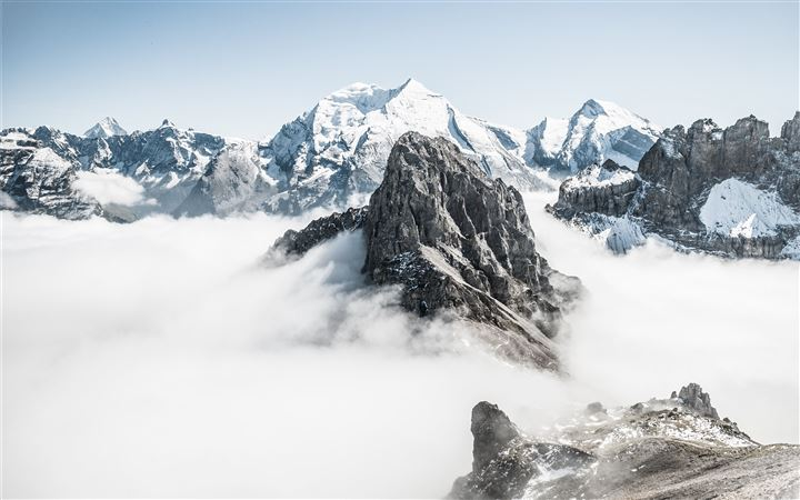 Mountain tops above cloud... All Mac wallpaper