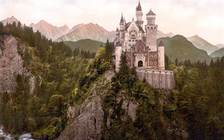Neuschwanstein Castle Bavaria All Mac wallpaper