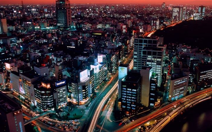 Night View Tokyo Japan All Mac wallpaper