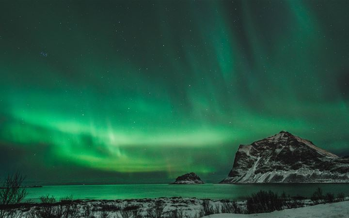 Northern lights in Norway All Mac wallpaper