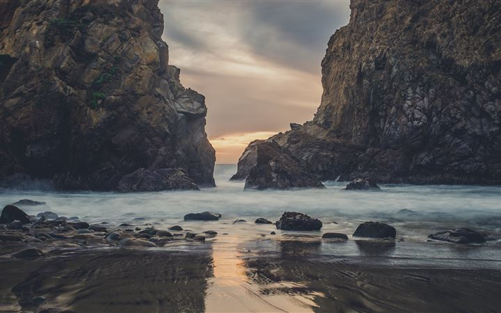 Pfeiffer Beach at Dusk All Mac wallpaper