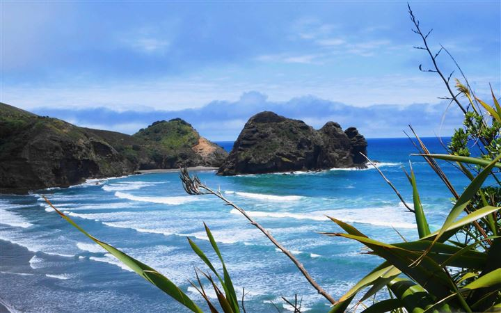 Piha Beach New Zealand All Mac wallpaper