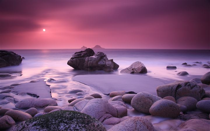 Pink Haze and Stones MacBook Air wallpaper