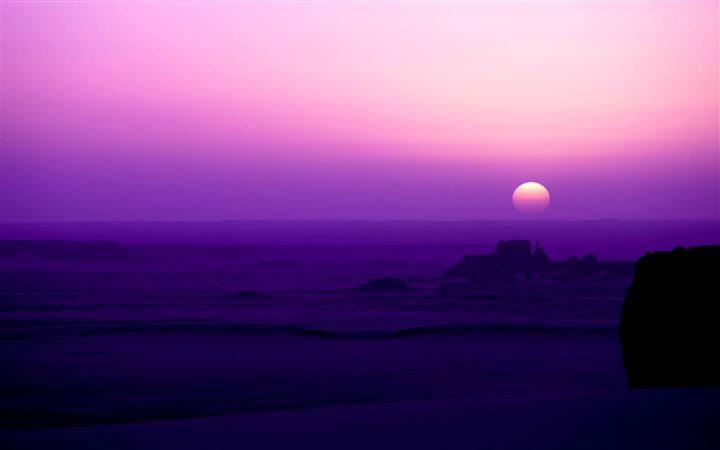 Purple Sunrise All Mac wallpaper