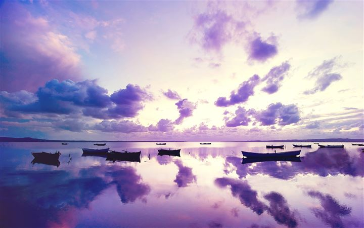 Purple Sunset In Ocean All Mac wallpaper
