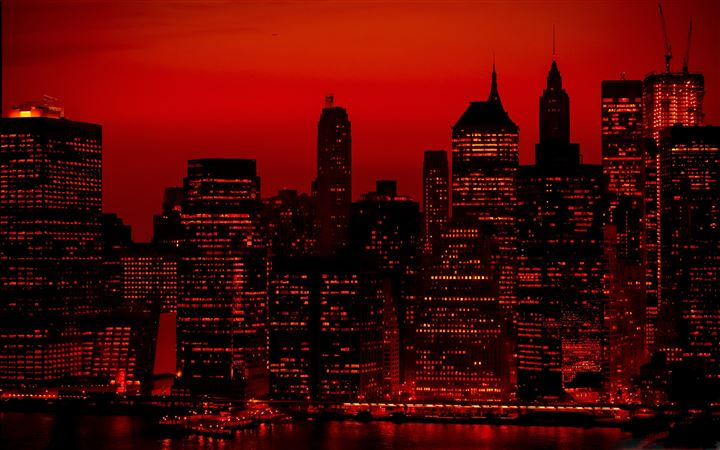 Red Sky At Night New York City All Mac wallpaper