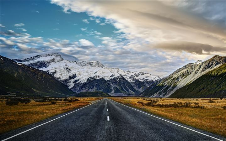Road To Mount Cook All Mac wallpaper
