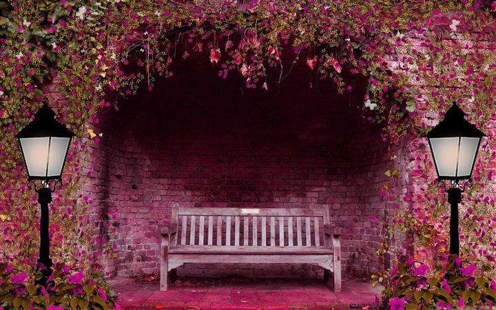 Romantic Bench All Mac wallpaper