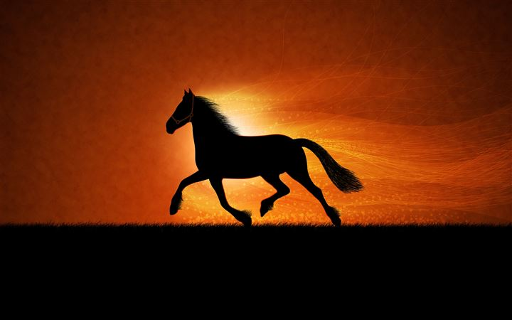 Running horse All Mac wallpaper