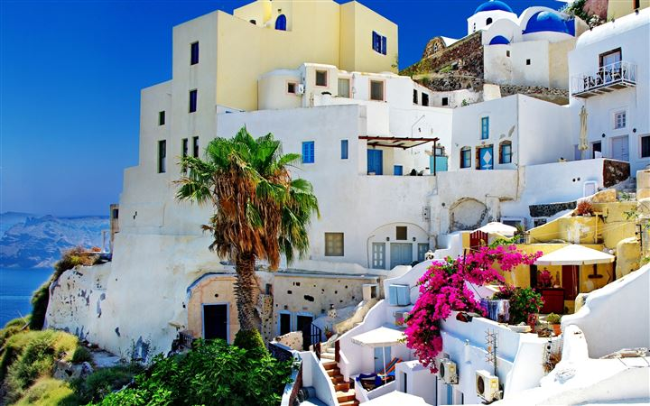 Santorini Oia All Mac wallpaper