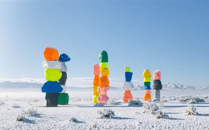Seven Magic Mountains, Un... All Mac wallpaper