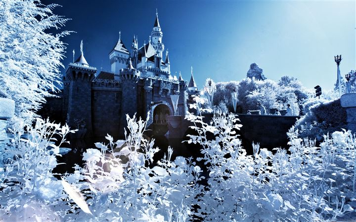 Sleeping Beauty Castle Winter All Mac wallpaper