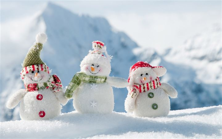 Snowmen On Mountain All Mac wallpaper