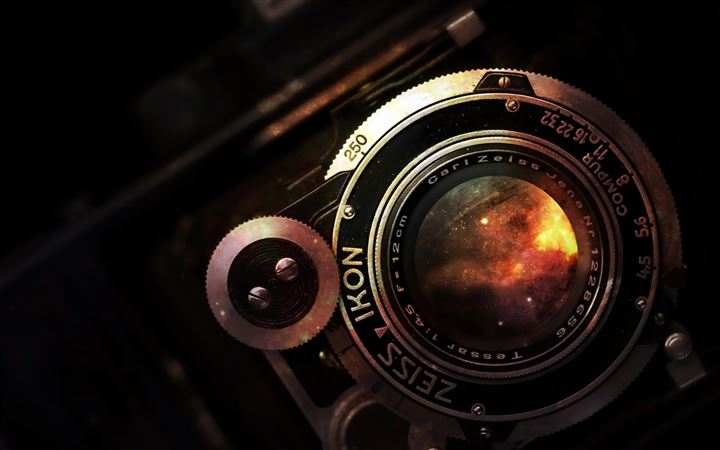 Space In Vintage Camera Lens All Mac wallpaper