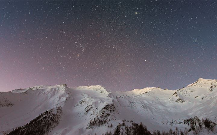 Stars and Sky in the Winter All Mac wallpaper