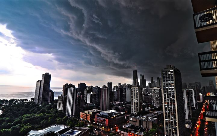 Storm Clouds Over Chicago All Mac wallpaper