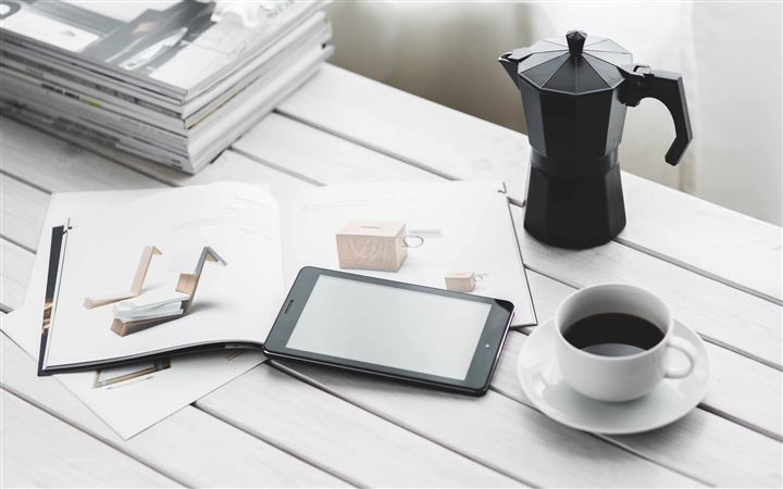 Tablet And Coffee All Mac wallpaper