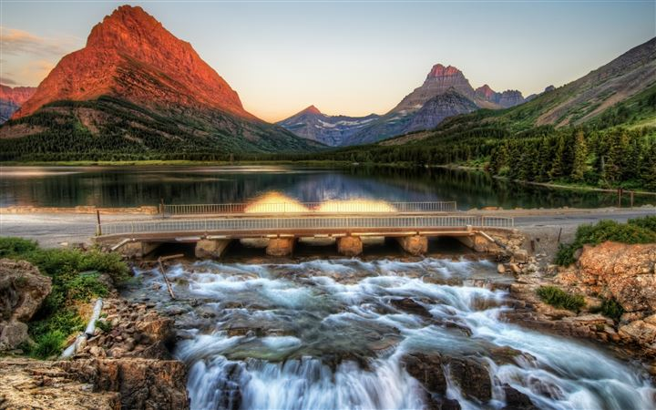 The Glacier National Park At Sunrise All Mac wallpaper
