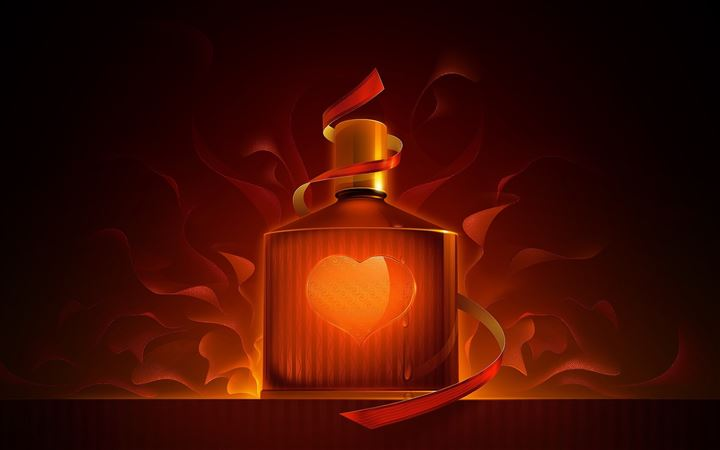 The bottle of heart All Mac wallpaper