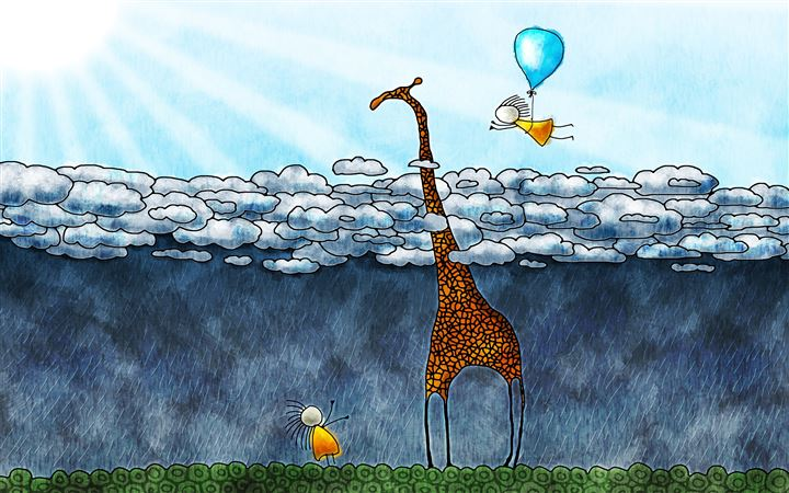 The giraffe's sky All Mac wallpaper