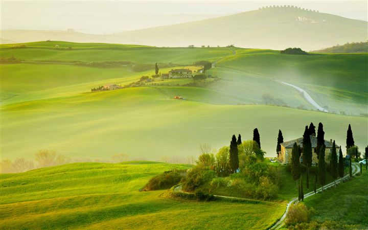 Tuscany Spring Landscape All Mac wallpaper
