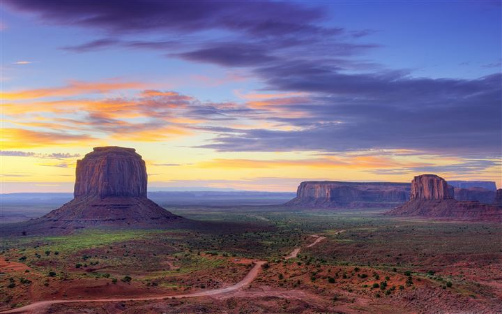 Utah Monument valley road All Mac wallpaper