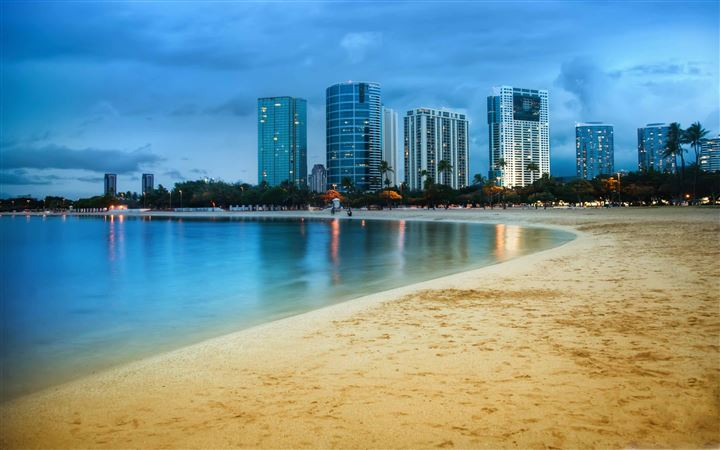 Waikiki After Sunset All Mac wallpaper