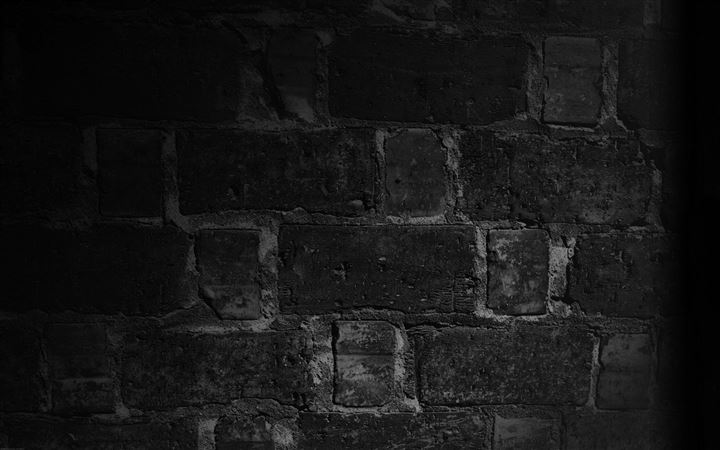 Wall Bricks Black Macro Night All Mac wallpaper