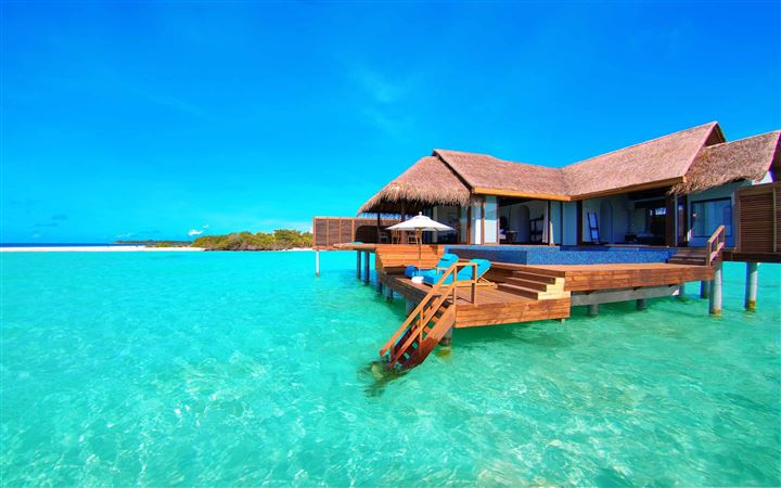 Water Bungalows On A Tropical Island All Mac wallpaper