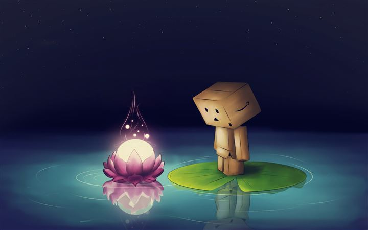 Water Flower Danbo Lotus Leaf All Mac wallpaper