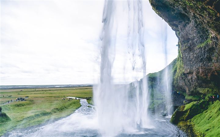 Waterfall in Iceland All Mac wallpaper