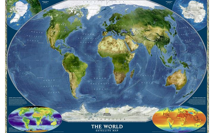 World map MacBook Air wallpaper