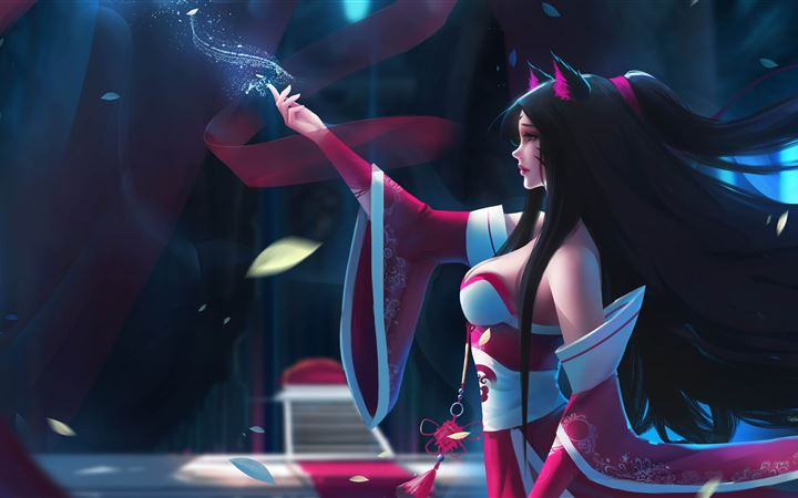 ahri league of legends fa... All Mac wallpaper