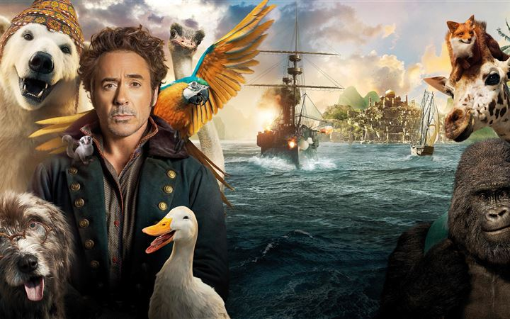 dolittle 2020 movie 8k MacBook Air wallpaper